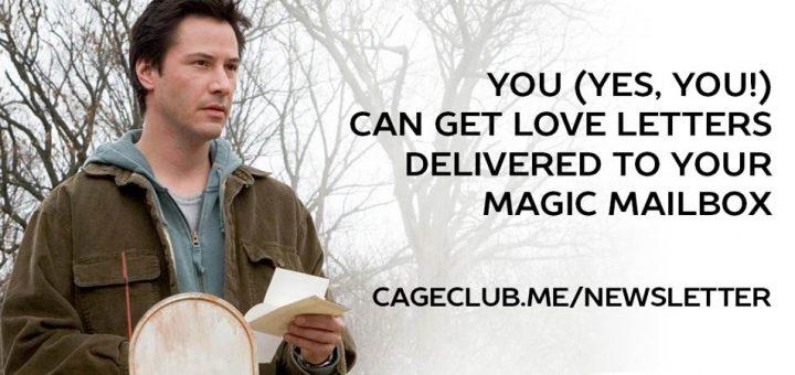 #CageClub Newsletter (Keanu)