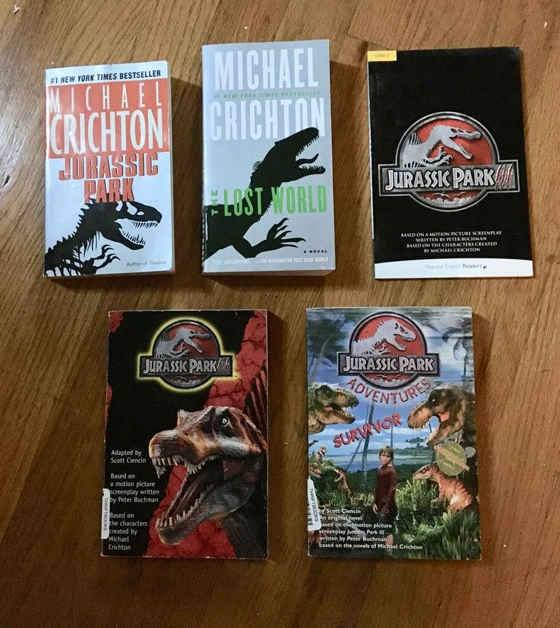 Jurassic Park III Books