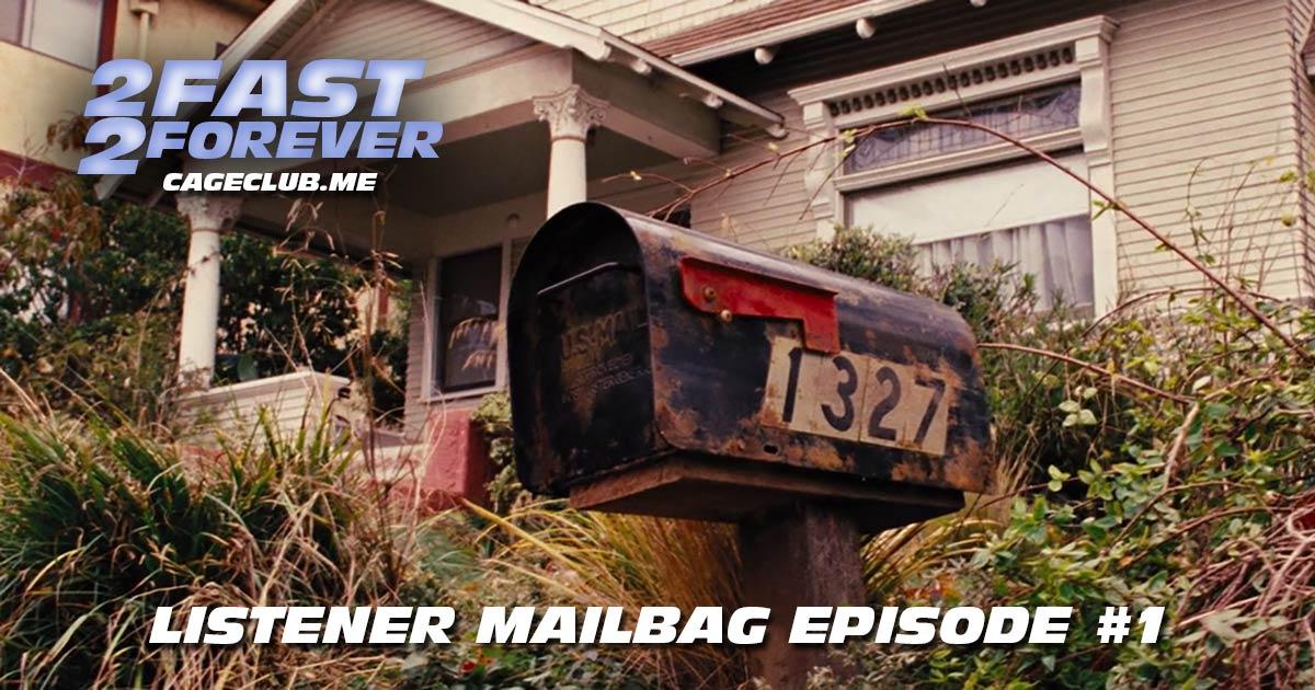 Listener Mailbag #1